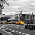 Yellow Cabs By The United Nations, New York 2 by Art Calapatia