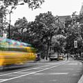 Yellow Cabs In Central Park, New York 4 by Art Calapatia