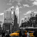 Yellow Cabs In Midtown Manhattan, New York by Art Calapatia
