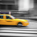 Yellow Cabs In New York 6 by Art Calapatia