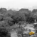 Yellow Cabs Near Central Park, New York by Art Calapatia