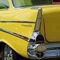Yellow Chevrolet Tail Fin by Jill Reger