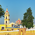 Yellow Church In Cholula, Mexico by Jess Kraft