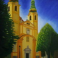 Yellow Church-vienna by Stephen Degan