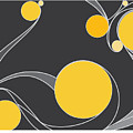 Yellow Circles Abstract Design by Patricia Awapara