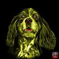 Yellow Cocker Spaniel Pop Art - 8249 - Bb by James Ahn