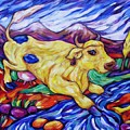 Yellow Cow Jumps The Creek by Dianne  Connolly