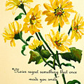 Yellow Daisies .. Poem by Karin  Dawn Kelshall- Best