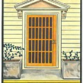 Yellow Door In Panama by Lesley Rutherford