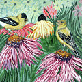 Yellow Finches by Ann Ingham