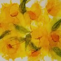 Yellow Floral by Donna Perry