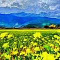 Yellow Flowers by Leonardo Digenio