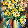Yellow Flowers by Leonid Afremov