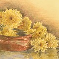 Yellow Flowers With Still Life by Ghada Ibrahim
