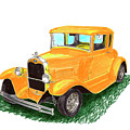 1932 Yellow Ford Hot Rod Coupe by Jack Pumphrey