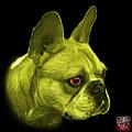 Yellow French Bulldog Pop Art - 0755 Bb by James Ahn