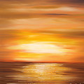 Yellow Gold Sunset by Gina De Gorna