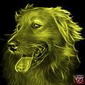 Yellow Golden Retriever - 4057 Bb by James Ahn
