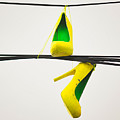Yellow Heels On A High Wire by Robin Zygelman