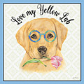 Yellow Lab-jp3869 by Jean Plout
