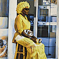 Yellow Lady Waiting by Alice Gipson