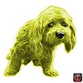 Yellow Lhasa Apso Pop Art - 5331 - Wb by James Ahn