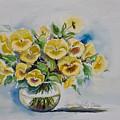 Yellow Pansies by Ingrid Dohm