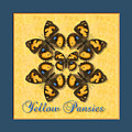 Yellow Pansy Butterfly Wheel by Melissa A Benson