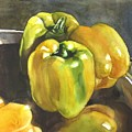 Yellow Peppers by Alfred Ng