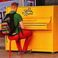 Yellow Piano by Yury Bashkin