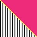 Yellow Pink And Black Geometric 2 by Linda Woods