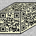 Yellow Qr Cube by Charles Robinson