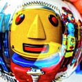 Yellow Robot In Crystal Ball by Garry Gay