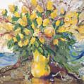 Yellow Roses by Nira Schwartz