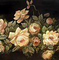 Yellow Roses On Black  by Patricia Rachidi