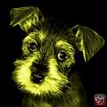 Yellow Salt And Pepper Schnauzer Puppy 7206 F by James Ahn
