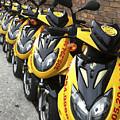 Yellow Scooters by Karen Zuk Rosenblatt