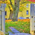 Yellow Shaker House Gate by Sam Davis Johnson