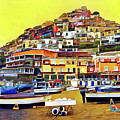 Yellow Sky In Positano by Lisa Lemmons-Powers