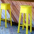 Yellow Stools by Debbi Granruth