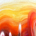 Yellow Sunlight Abstract Art by Sofia Metal Queen
