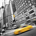 Yellow Taxi Nyc by Delphimages Photo Creations