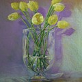Yellow Tulips In A Glass by Tom Forgione