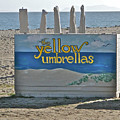 Yellow Umbrellas by Liz Vernand