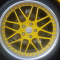 Yellow Vette Wheel by Rob Hans