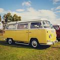 Yellow Vw T2 Camper Van 02 by Richard Nixon