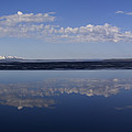 Yellowstone Lake Reflection-signed-no Bird by J L Woody Wooden