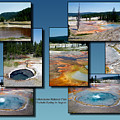 Yellowstone Park Firehole Spring In August Collage by Thomas Woolworth