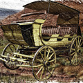 Yellowstone Park Stage Coach With Horses Pa 01 by Thomas Woolworth
