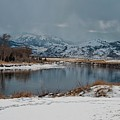 Yellowstone River In Light Snow by NaturesPix